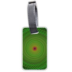 Green Fractal Simple Wire String Luggage Tags (two Sides)