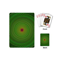 Green Fractal Simple Wire String Playing Cards (mini)