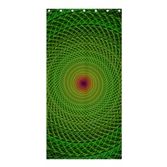 Green Fractal Simple Wire String Shower Curtain 36  X 72  (stall)