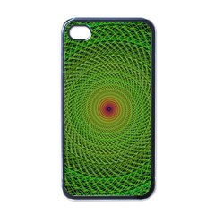 Green Fractal Simple Wire String Apple Iphone 4 Case (black)