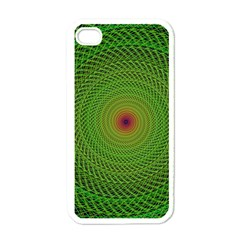Green Fractal Simple Wire String Apple Iphone 4 Case (white)
