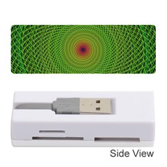 Green Fractal Simple Wire String Memory Card Reader (stick)
