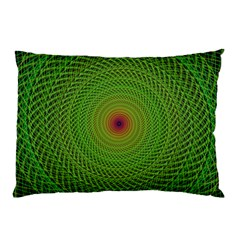 Green Fractal Simple Wire String Pillow Case (two Sides)