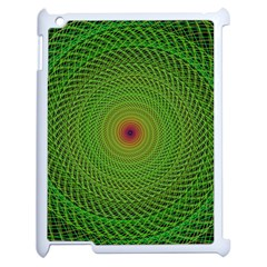 Green Fractal Simple Wire String Apple Ipad 2 Case (white)