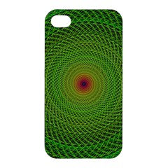 Green Fractal Simple Wire String Apple Iphone 4/4s Hardshell Case