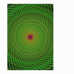 Green Fractal Simple Wire String Small Garden Flag (two Sides)