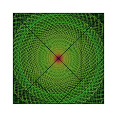 Green Fractal Simple Wire String Acrylic Tangram Puzzle (6  x 6 )