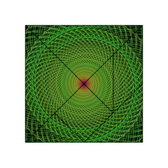 Green Fractal Simple Wire String Acrylic Tangram Puzzle (4  X 4 )