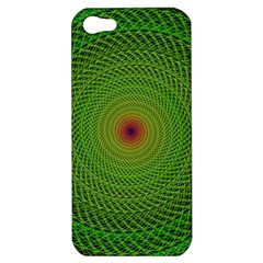 Green Fractal Simple Wire String Apple Iphone 5 Hardshell Case