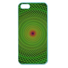 Green Fractal Simple Wire String Apple Seamless Iphone 5 Case (color)