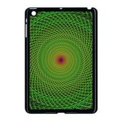 Green Fractal Simple Wire String Apple Ipad Mini Case (black)
