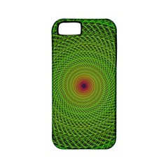 Green Fractal Simple Wire String Apple Iphone 5 Classic Hardshell Case (pc+silicone)