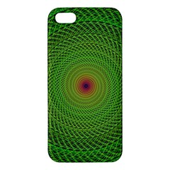 Green Fractal Simple Wire String Apple Iphone 5 Premium Hardshell Case