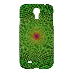 Green Fractal Simple Wire String Samsung Galaxy S4 I9500/i9505 Hardshell Case