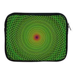 Green Fractal Simple Wire String Apple Ipad 2/3/4 Zipper Cases