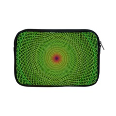 Green Fractal Simple Wire String Apple Ipad Mini Zipper Cases
