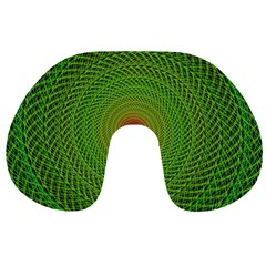 Green Fractal Simple Wire String Travel Neck Pillows