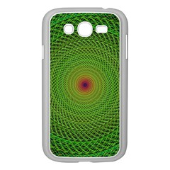 Green Fractal Simple Wire String Samsung Galaxy Grand Duos I9082 Case (white)
