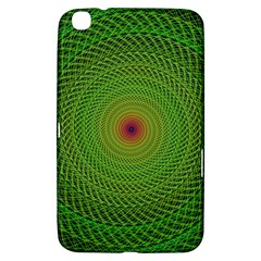Green Fractal Simple Wire String Samsung Galaxy Tab 3 (8 ) T3100 Hardshell Case