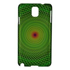 Green Fractal Simple Wire String Samsung Galaxy Note 3 N9005 Hardshell Case