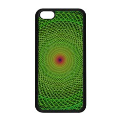 Green Fractal Simple Wire String Apple Iphone 5c Seamless Case (black)