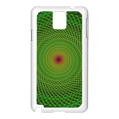 Green Fractal Simple Wire String Samsung Galaxy Note 3 N9005 Case (white)