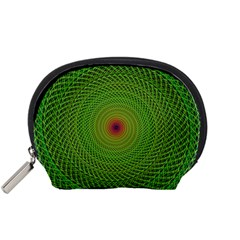 Green Fractal Simple Wire String Accessory Pouches (small)