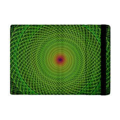 Green Fractal Simple Wire String Ipad Mini 2 Flip Cases