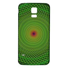 Green Fractal Simple Wire String Samsung Galaxy S5 Back Case (white)