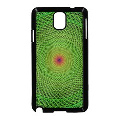 Green Fractal Simple Wire String Samsung Galaxy Note 3 Neo Hardshell Case (black)