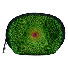 Green Fractal Simple Wire String Accessory Pouches (medium)