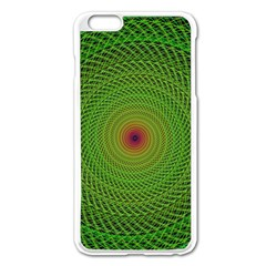 Green Fractal Simple Wire String Apple Iphone 6 Plus/6s Plus Enamel White Case