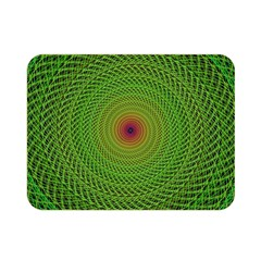 Green Fractal Simple Wire String Double Sided Flano Blanket (Mini)