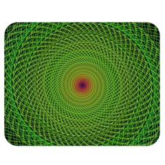 Green Fractal Simple Wire String Double Sided Flano Blanket (medium)