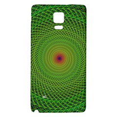 Green Fractal Simple Wire String Galaxy Note 4 Back Case