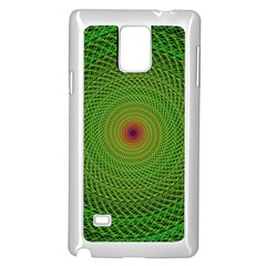 Green Fractal Simple Wire String Samsung Galaxy Note 4 Case (white)
