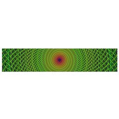 Green Fractal Simple Wire String Flano Scarf (Small)