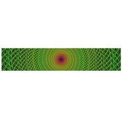 Green Fractal Simple Wire String Flano Scarf (large)