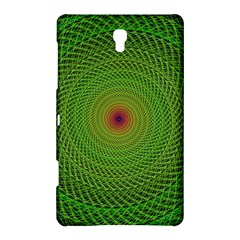 Green Fractal Simple Wire String Samsung Galaxy Tab S (8.4 ) Hardshell Case