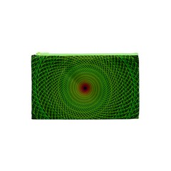 Green Fractal Simple Wire String Cosmetic Bag (xs)