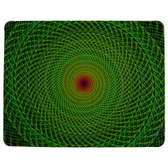 Green Fractal Simple Wire String Jigsaw Puzzle Photo Stand (rectangular)
