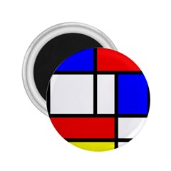 Mondrian Red Blue Yellow 2.25  Magnets