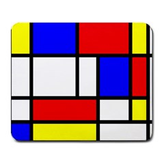 Mondrian Red Blue Yellow Large Mousepads