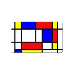 Mondrian Red Blue Yellow Magnet (name Card)