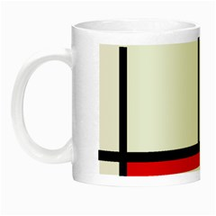 Mondrian Red Blue Yellow Night Luminous Mugs