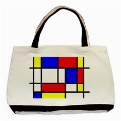 Mondrian Red Blue Yellow Basic Tote Bag