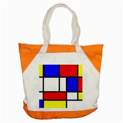 Mondrian Red Blue Yellow Accent Tote Bag