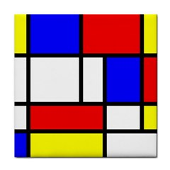 Mondrian Red Blue Yellow Face Towel