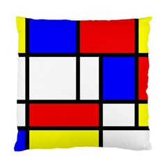 Mondrian Red Blue Yellow Standard Cushion Case (one Side)