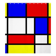Mondrian Red Blue Yellow Shower Curtain 66  X 72  (large)